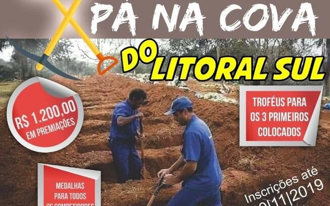 Cartaz do festival que tem como intuito valorizar o trabalho dos profissionais dos cemitérios da Paraíba.