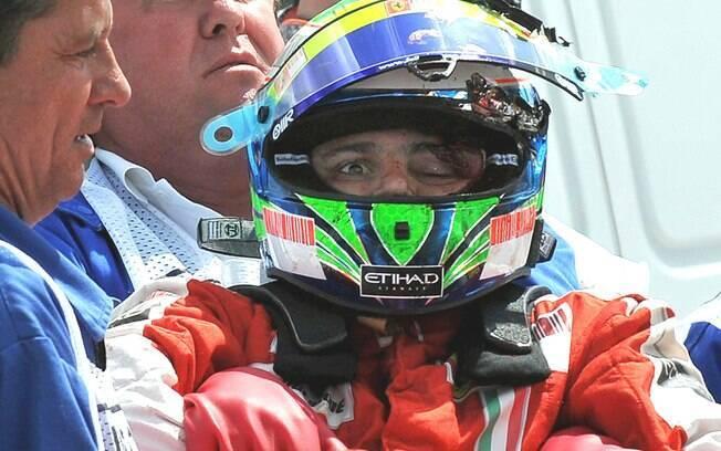 Felipe Massa sofreu grave acidente em 2009 na Fórmula 1