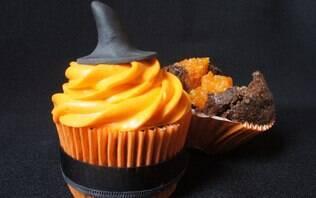 Cupcake de chocolate e abóbora