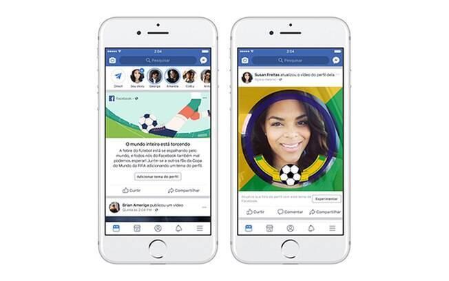 Facebook lançou novos recursos para usuários que estiverem no clima da Copa do Mundo na Rússia