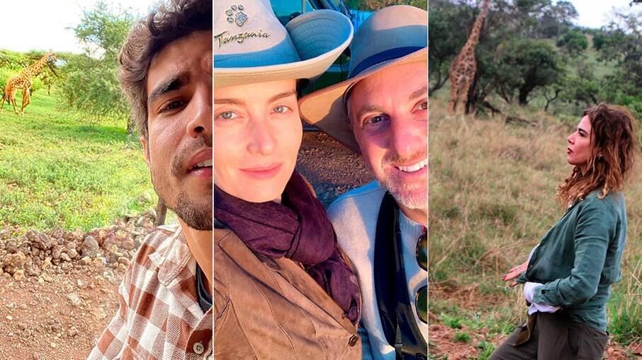 Caio Castro, Angélica, Huck e Gimenez se divertem na Tanzânia