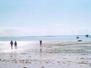 Vista da praia em Cumuruxatiba