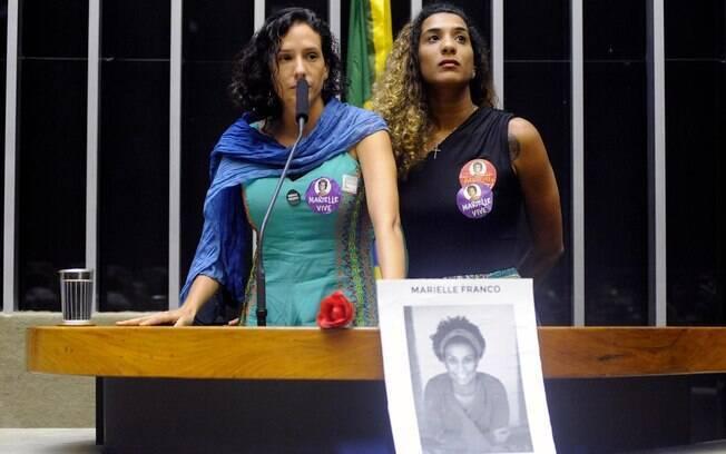Irmã e viúva de Marielle Franco pretam homenagem à vereadora na Câmara dos Deputados