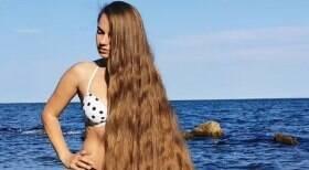 Rapunzel da vida real tem 1,65 m de cabelo