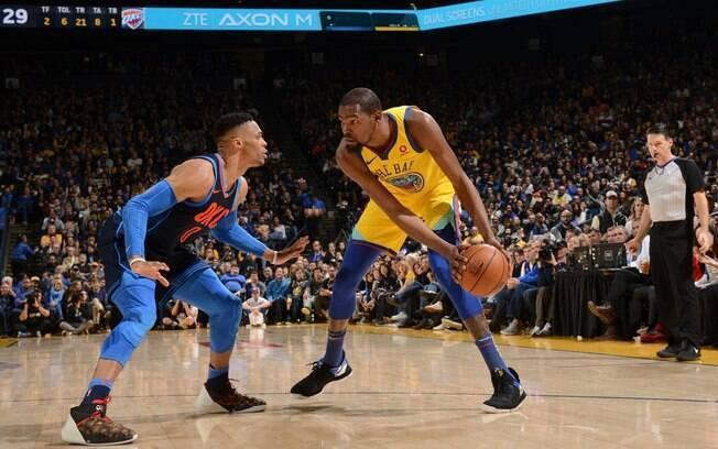 O segundo jogo da temporada 2018-19 da NBA será entre Oklahoma City Thunder, de Westbrook, e o atual bicampeão Golden State Warriors, de Kevin Durant