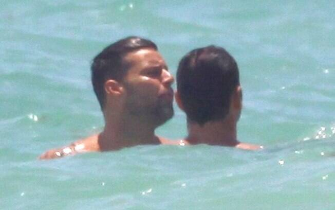 Ricky Martin e Carlos Gonzáles Abella: relax total