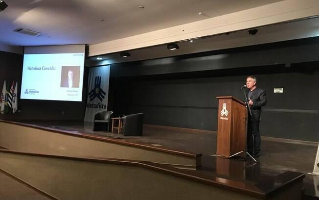 Flávio Rocha, pré-candidato pelo PRB em palestra oferecida pela Universidade Metodista