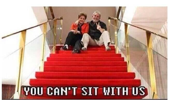 'Aécio, você não pode sentar com a gente' é uma releitura da frase clássica do filme 'Garotas Malvadas'. Foto: Reprodução