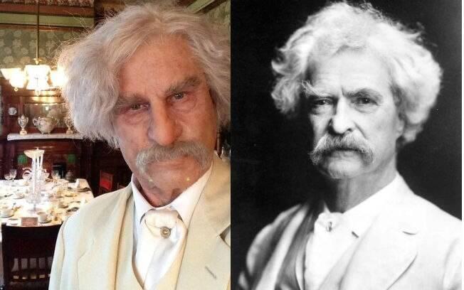 Transformação Val Kilmer em Mark Twain