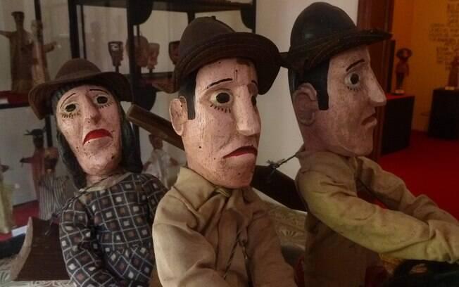 Bonecos do Museu do Mamulengo, em Olinda