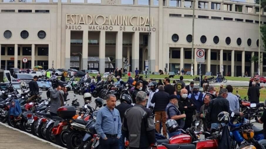 Chegada do DGR 2021 São Paulo, em frente ao Estádio do Pacaembu