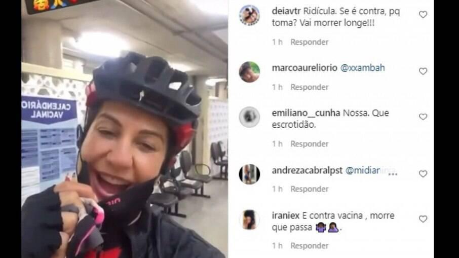 Internautas xingando Fernanda Venturini