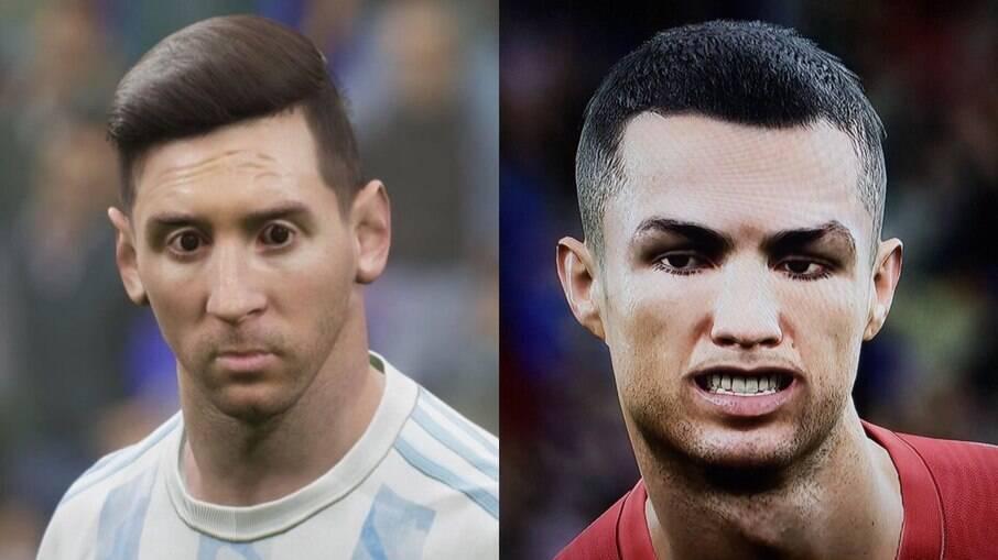 Messi e Cristiano Ronaldo no eFootball 2022