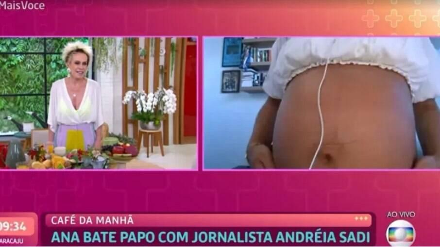 Ana Maria entrevistou Andréia Sadi sobre a gravidez da repórter