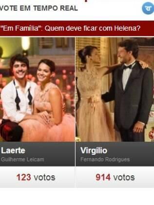 Internauta diz que Helena deve ficar com Virgílio
