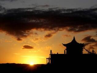 Paz e tranquilidade no fim de tarde em Khadro Ling, em Três Coroas