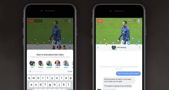 Novo recurso do Facebook permite criar um chat privado em vídeos ao vivo