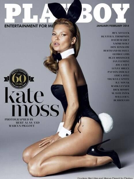 Kate Moss foi capa da Playboy dos EUA em 2014
