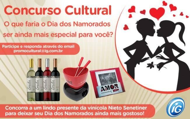 Participe do Concurso Cultural Dia dos Namorados e ganhe um kit de presentes para curtir com seu amor