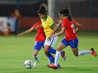 Cristiane marcou o segundo gol na vitória do Brasil por 2 a 0