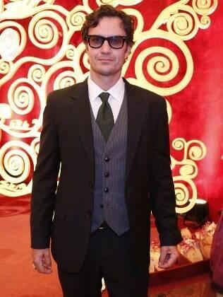 Gabriel Braga Nunes na festa da novela 'Em Família'