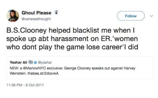 Acusação da atriz Vanessa Marquez a George Clooney