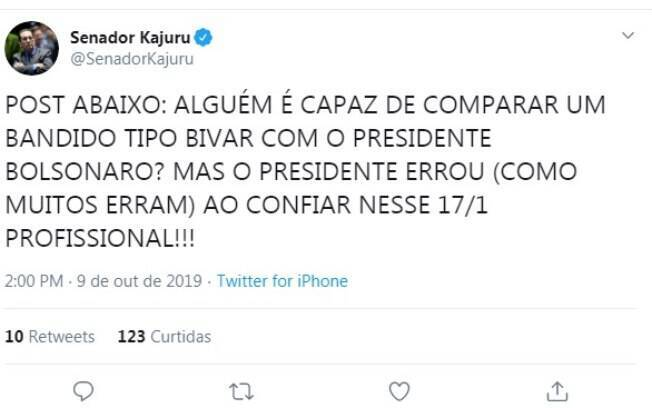 Tweet Jorge Kajuru