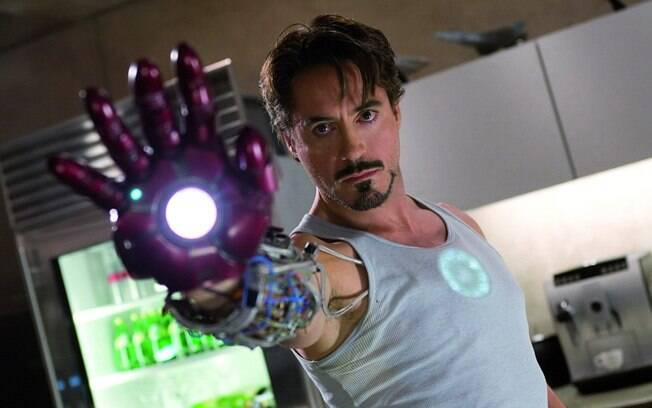 Downey Jr. no primeiro filme da franquia 'Homem de Ferro' (2008). Foto: Divulgação