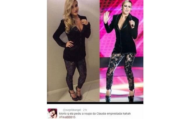 Aline ou Claudia Leitte? Quem você prefere?. Foto: Reprodução/Twitter