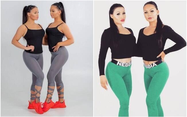 As amigas usam roupas iguais e mantém a mesma rotina de exercícios físicos para ficar com corpos parecidos