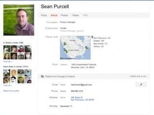 Informações do serviço Contacts podem ser integradas ao Google+
