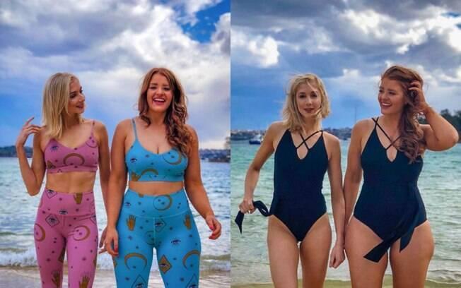 Alyna e Jes Rost criaram uma conta no Instagram para promover autoaceitação, confirança e o corpo feminino