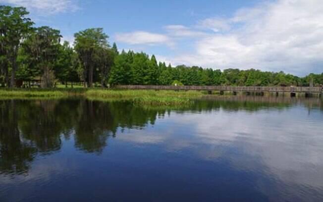 Bill Frederick Park é um local arborizado e ideal para quem viaja de motorhome