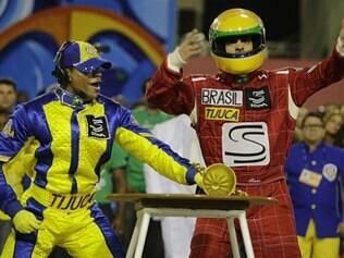 Unidos da Tijuca fez tributo a Ayrton Senna e trouxe alegorias que fizeram referência à velocidade