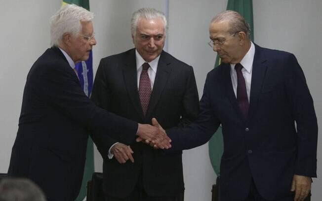 Michel Temer, Moreira Franco e Eliseu Padilha são acusados de receberem propina da Odebrecht