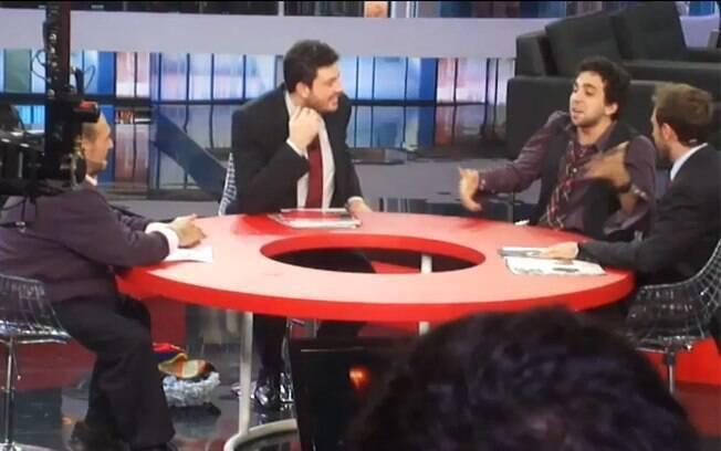 Sr. Barriga, Gentili, Murilo Couto e Leo Lins discutem matéria publicada no iG sobre Larissa Cereza