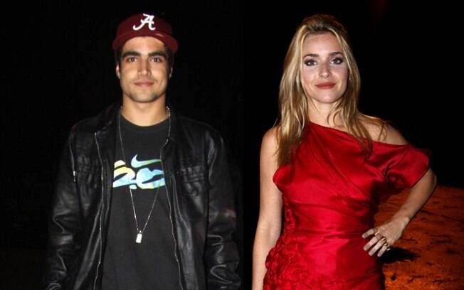 Caio Castro e Monique Afradique na entrada da festa de Wolf Maya com o elenco de