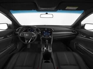 Acabamento de bom gosto e caprichado agrada no novo Civic. Decepciona apenas o retrovisor interno dia/noite nas versões EX  e EX-L