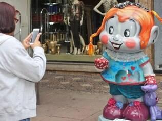 Mônica Parade - exposição na praça da Savassi de estátuas personalizadas da Mônica