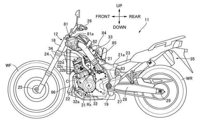 Patente Africa Twin com o motor sobrealimentado que poderá ser adotado pela marca japonesa
