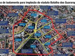 Mapa mostra quais serão as vias bloqueadas
