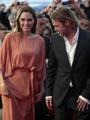 Angelina Jolie e Brad Pitt no festival de Saravejo