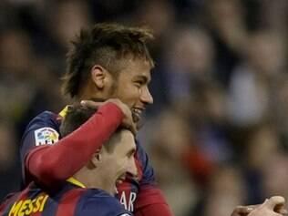 Messi postou uma foto ao lado de Neymar no Barcelona e desejou boa recuperação ao jogador