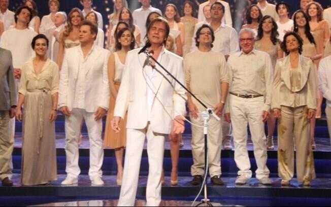 Roberto Carlos grava especial para a Globo