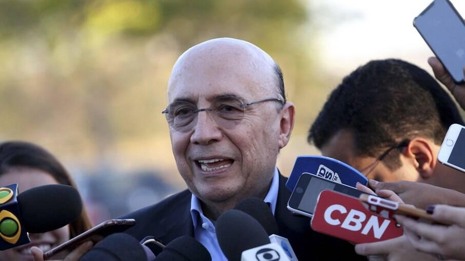 O ex-ministro da Fazenda e atual secretário do Estado de S. Paulo, Henrique Meirelles%