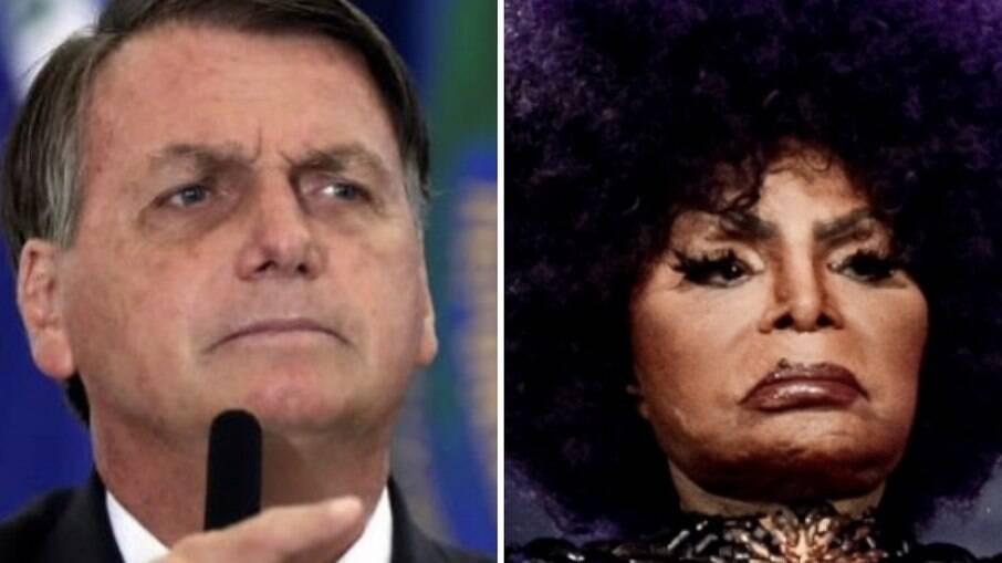Jair Bolsonaro e Elza Soares