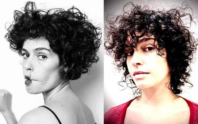 A atriz Maria Flor é adepta ao corte de cabelo Wash and Go