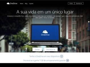 OneDrive é serviço de armazenamento na nuvem da Microsoft