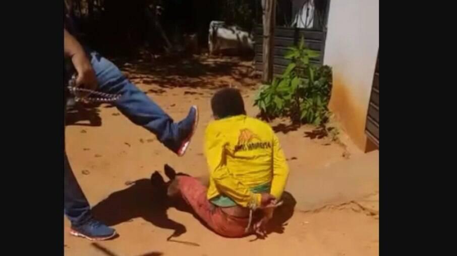 Homem é espancado por policial no Piauí