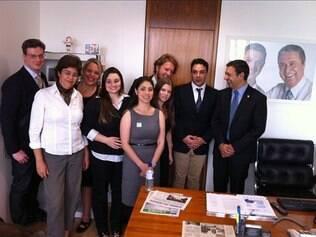Marcelo Medici, Alessandra Siedschlag e representantes de ONGs foram a Brasília entregar a petição à autoridades